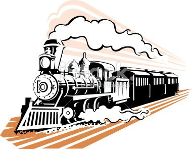 image of an very old style steam train in black and white vector rh pinterest com steam train clipart black and white steam engine train clipart