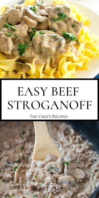 EASY BEEF STROGANOFF images