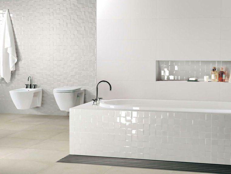 salle-de-bain-carrelage-blanc-idee-carrelage-salle-de-bain - Photo Faience Salle De Bain