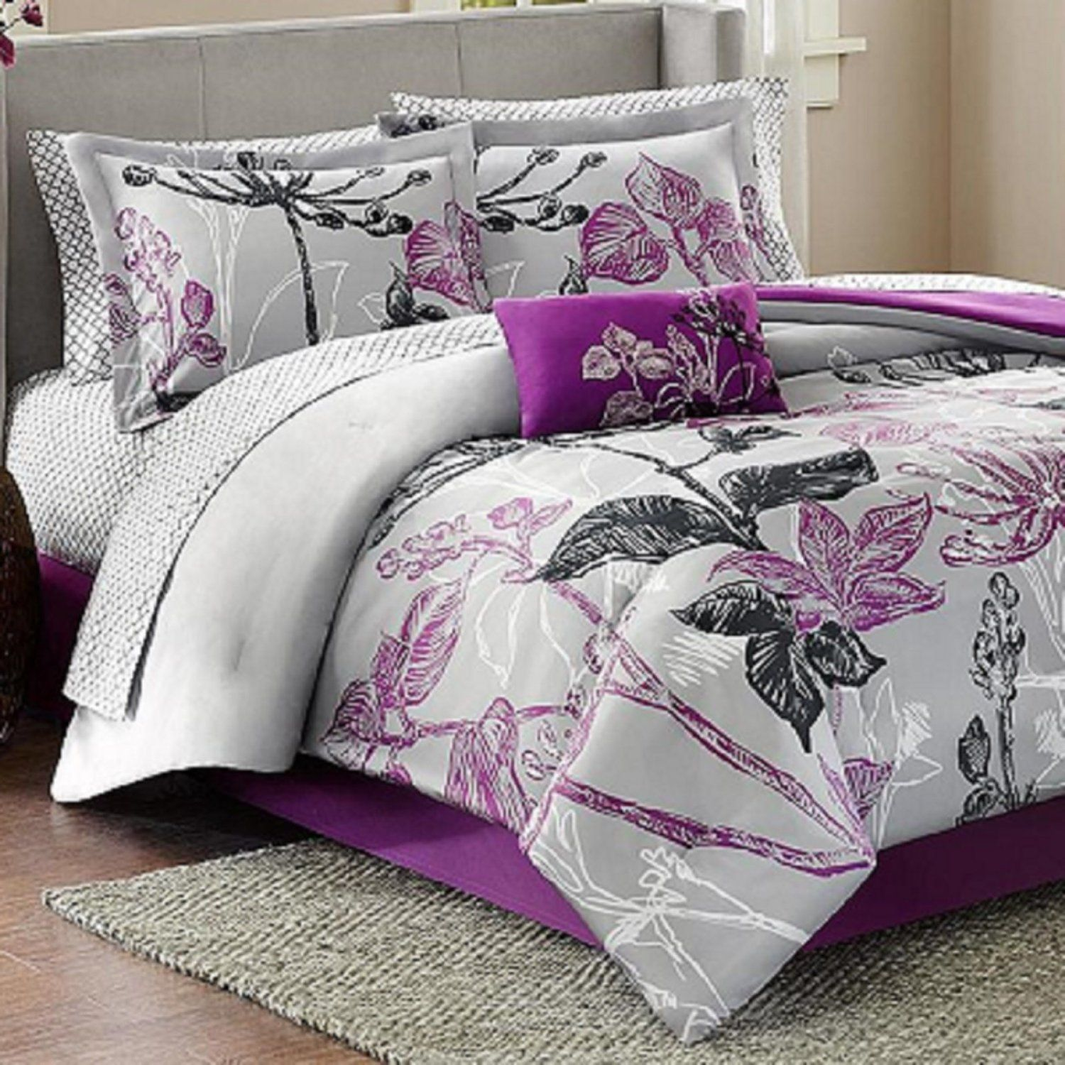 size bedding hizli rapidlaunch bed sets queen purple co