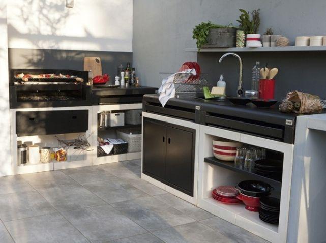 Cuisine extérieure  15 modèles pratiques et esthétiques - Elle - Cuisine Exterieur Leroy Merlin