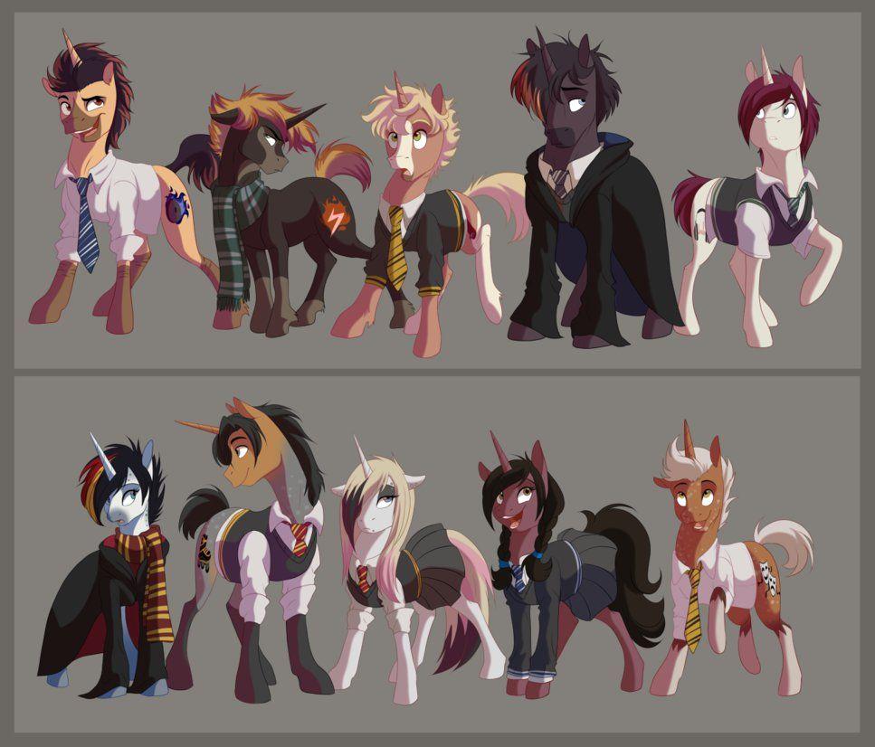 MLP OCs - Hogwarts AU by dennyvixen.deviantart.com on @DeviantArt