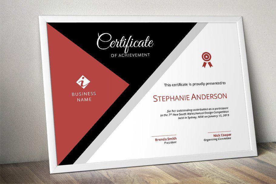 Modern corporate certificate #corporate#Modern#certificate#Templates