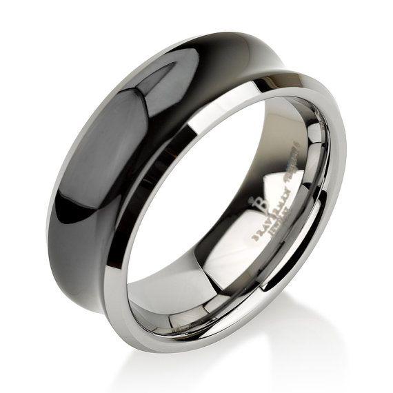 Black Tungsten Wedding BandTungsten Wedding by BravermanOren