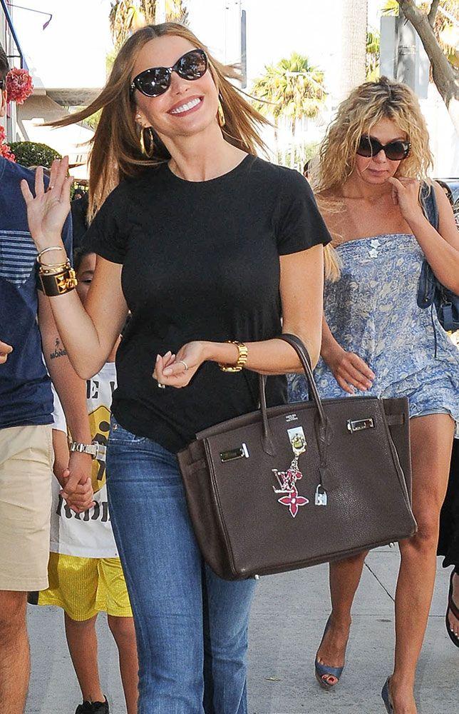 d3c2e34206af Check out Sofia Vergara's bag collection, including lots of Chanel, Hermes,  Fendi and Prada.