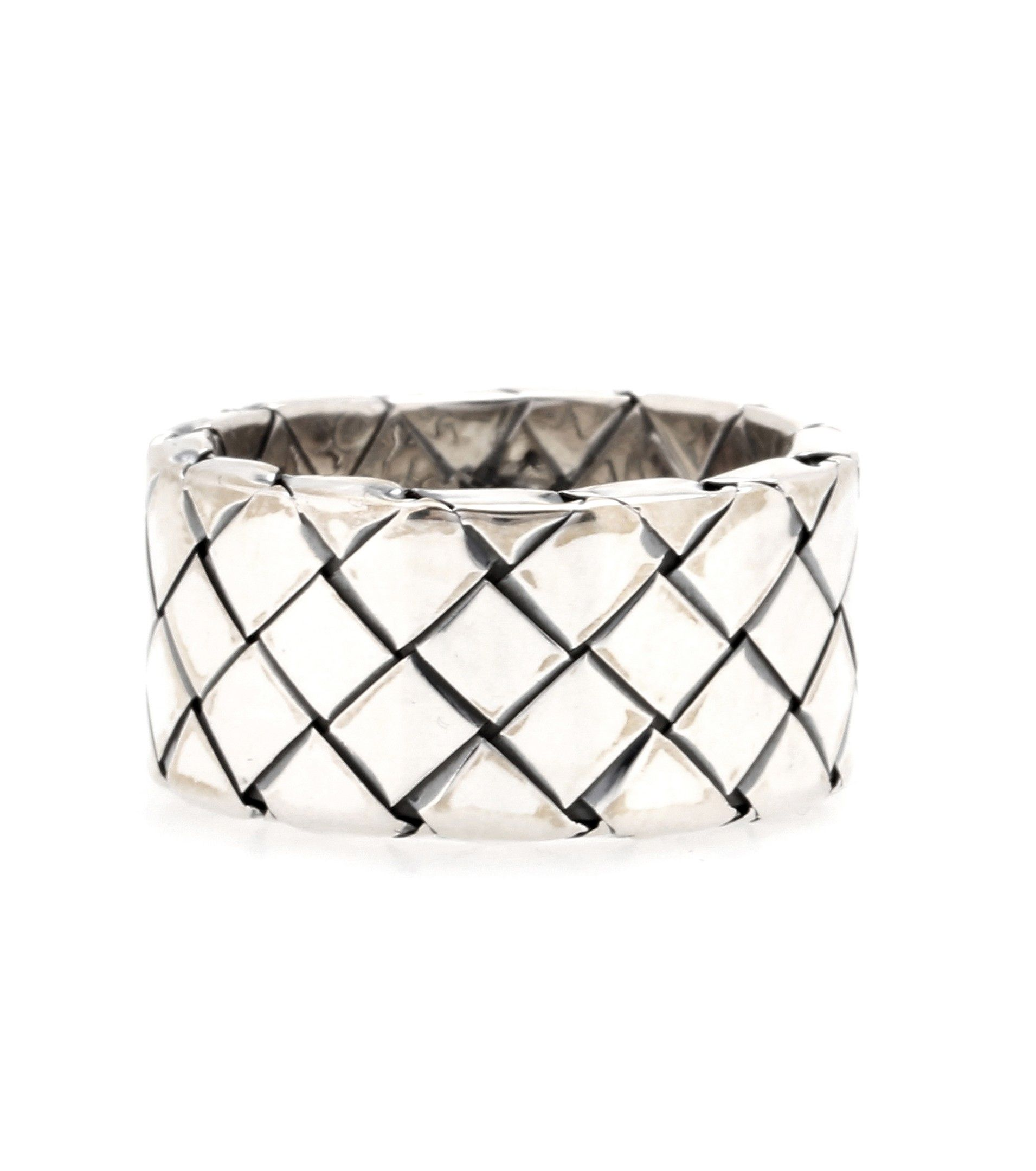 Bottega Veneta gold and silver antique Intrecciato bangle - Metallic rQXcCTIvq