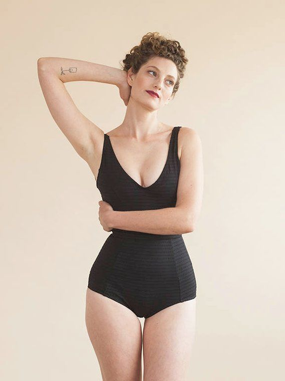 Black One Piece Swimsuit 2