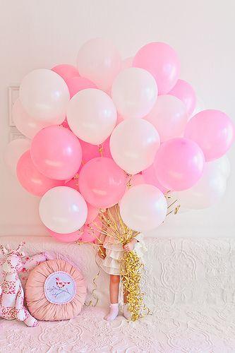 Pink Balloonsgold Strings Ansleys Birthday