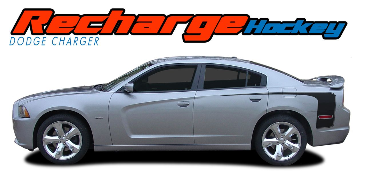 2011 2012 2013 2014 dodge charger extended hockey solid 2 vinyl graphics decals stripes kits