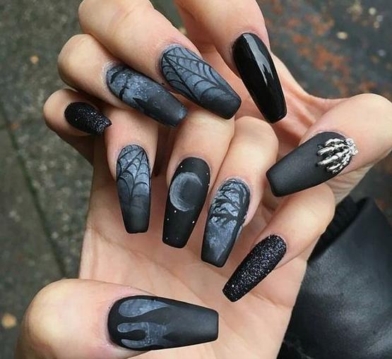 1 Tumblr Goth Nails Gothic Nails Halloween Nails