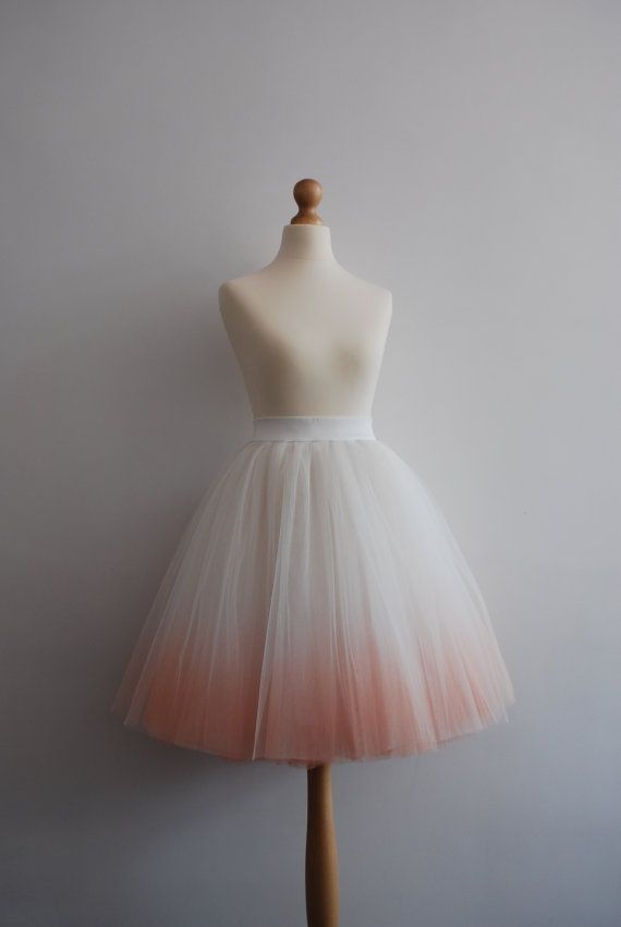 Blushing Ballerina Hand Dyed Ombre Tulle Skirt Adult Tutu Ladies