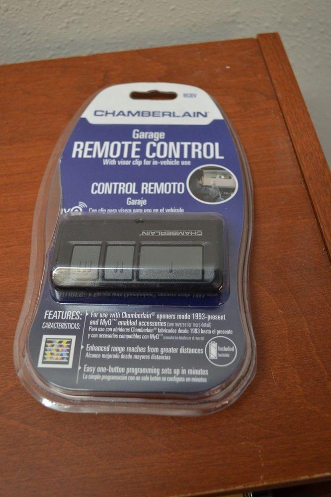 Chamberlain 953ev Garage Door Remote Control Opener Craftsman Universal Myq Garage Door Remote Control Garage Remote Visor Clips