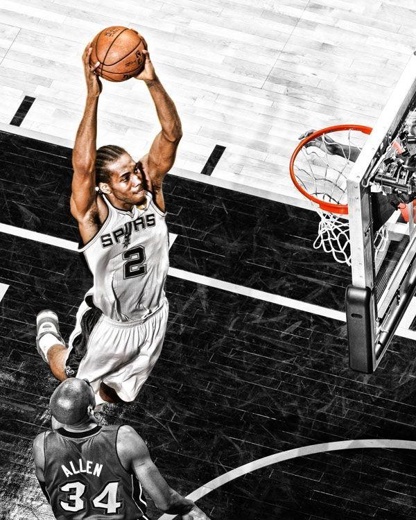 Kawhi Leonard. San Antonio Spurs #wmcskills | Sports Graphics ...