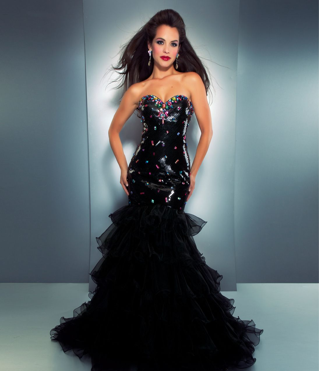 Black Sequin Mermaid Prom Dress - Missy Dress