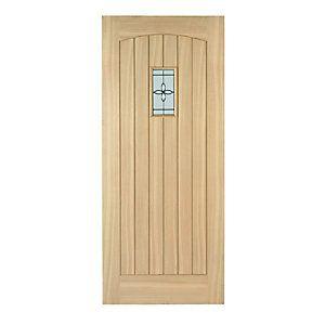 Wickes Croft External Oak Veneer Door Glazed 2032x813mm | Wickes.co.uk  sc 1 st  Pinterest & Wickes Croft External Cottage Oak Veneer Door Glazed 2032 x 813mm ...