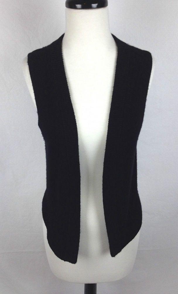 Theory Black Cashmere Sweater Vest M Womens  #Theory #VestSleeveless