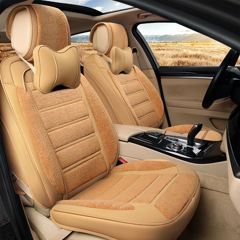 6D New Winter Plush Leather Car Seat Cover Cushion For Nissan Altima Rouge X Trail