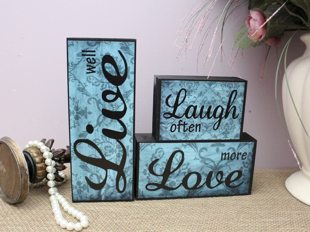 Live Laugh Love Decorations Words Of Wisdom Christmas Gift Inspirational Home Decor Wooden