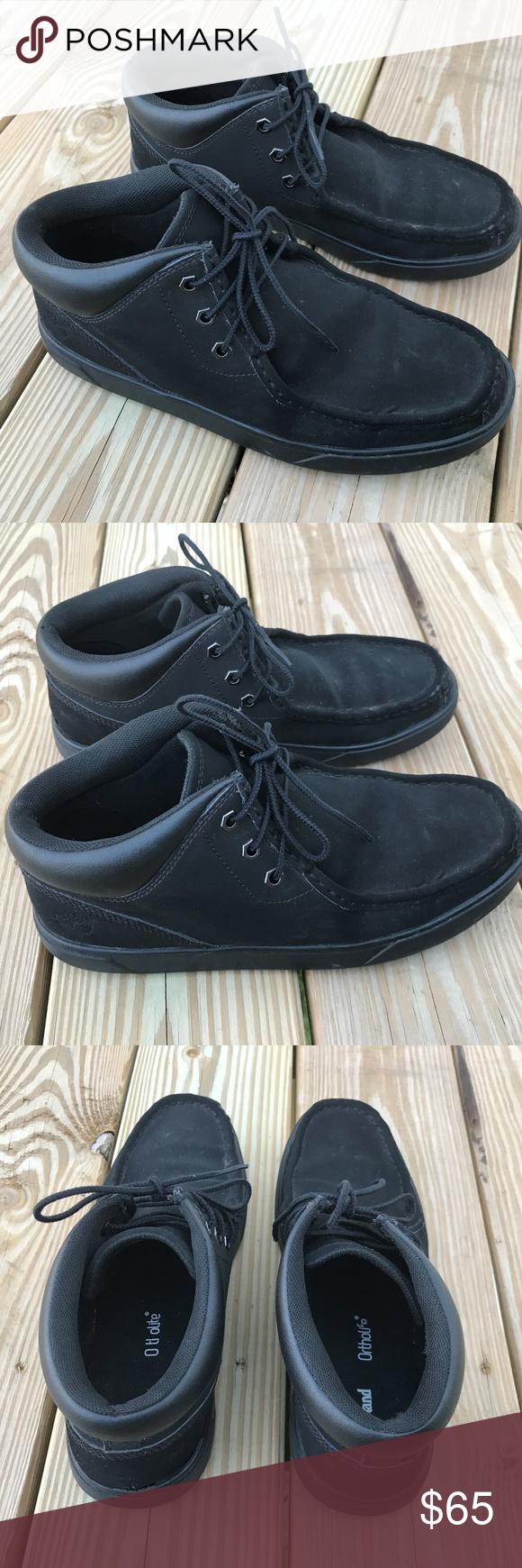 Black Ortholite Boots Sz 8