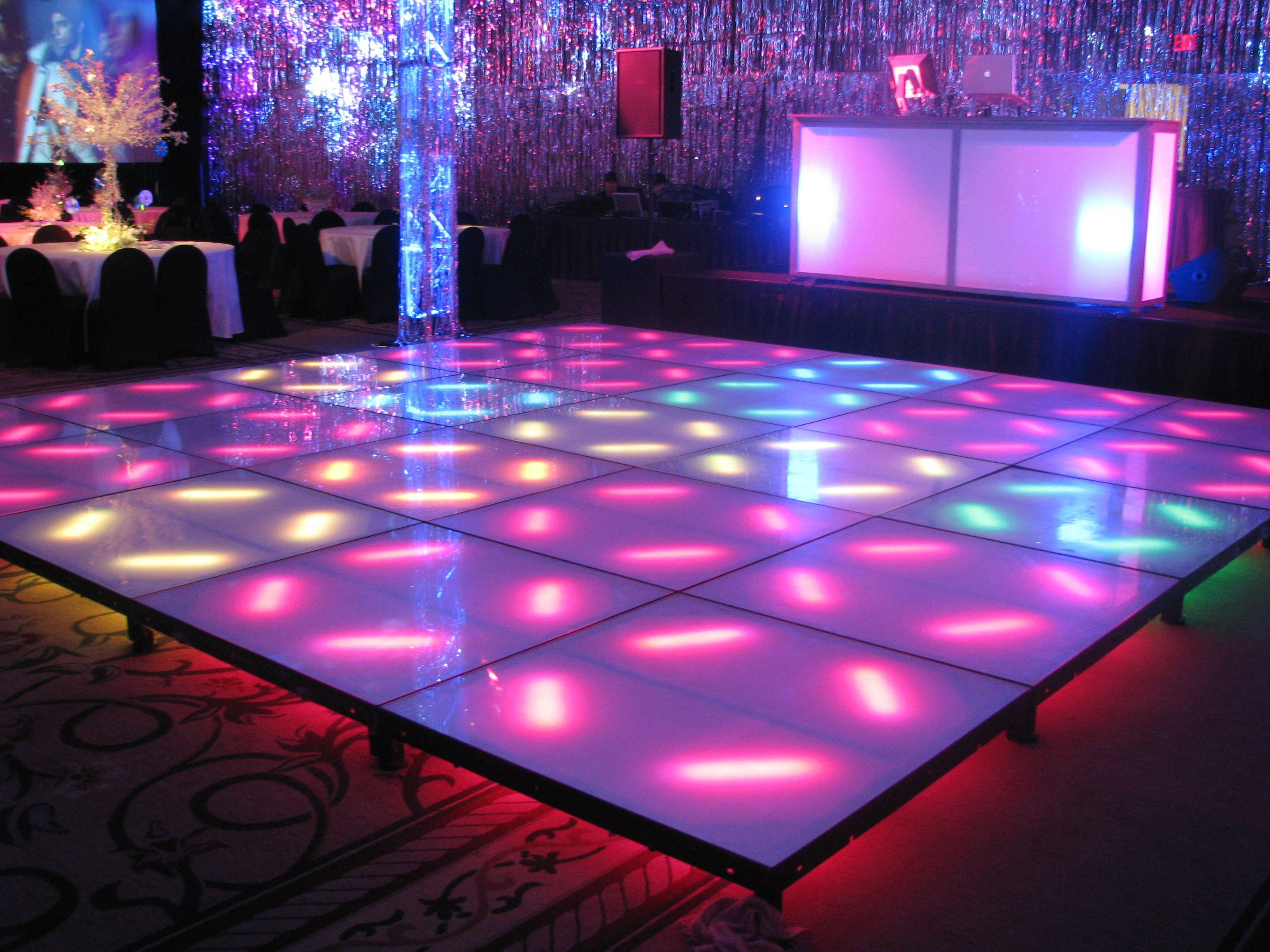 led dance floor theme night club pinterest led dance and wedding things. Black Bedroom Furniture Sets. Home Design Ideas