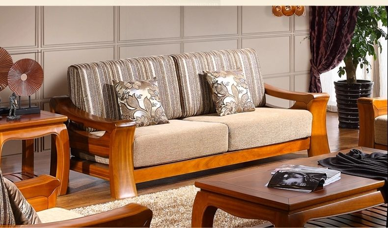 Get A Modern Look In Your Living Room With Modern Wooden Sofa Set