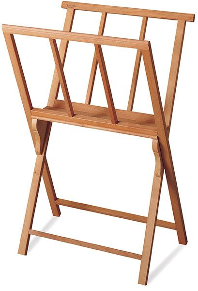 Solid Wood Folding Print Rack