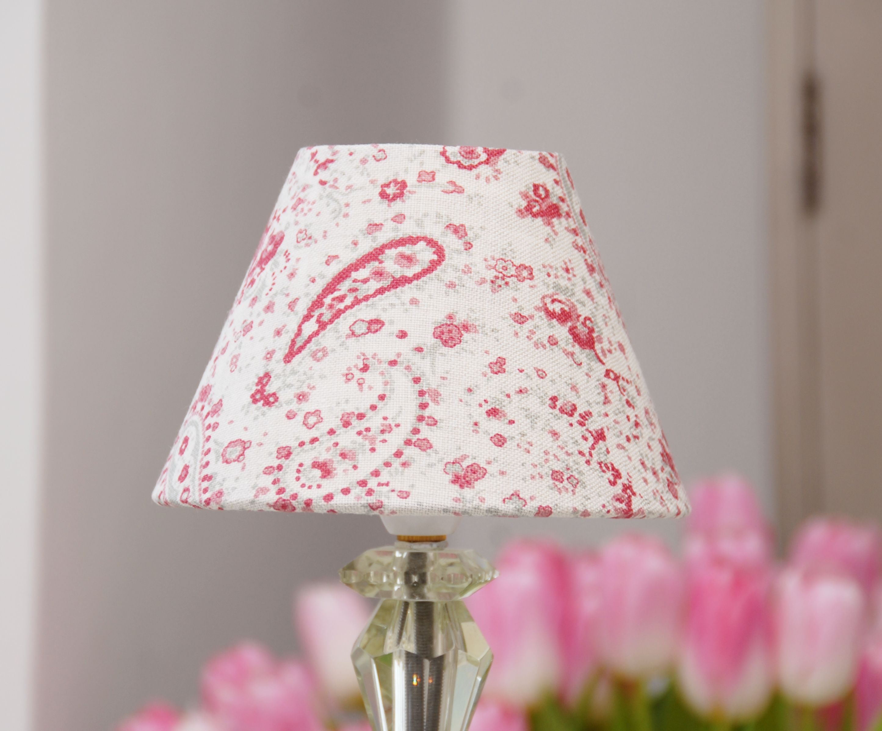 Paisley raspberry by peony and sage lampshades made to order paisley raspberry by peony and sage lampshades made to order aloadofball Image collections