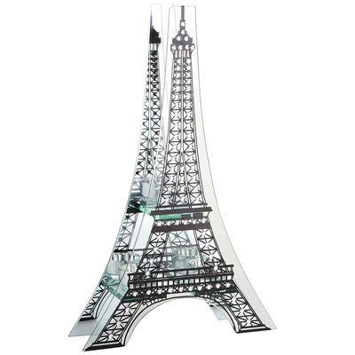 Eiffel Tower Tealight Candleholder Mirrored Glass Eiffel Tower Tea Lights