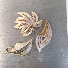 Image result for jj white leaves gold brooch