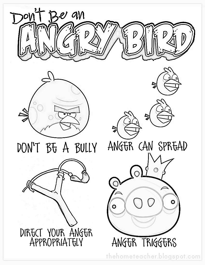 anger management coloring pages Coloring Angry Birds Anger Management | Anger management | Angry  anger management coloring pages