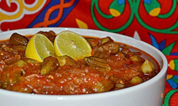 Bamya Bil Lahme Okra With Meat Stew Recipe Food Com Recipe Recipes Egyptian Food Stew Recipes