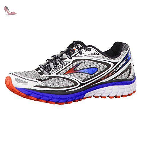 Brooks Defyance 9, Chaussures de Gymnastique Homme, Gris (Charcoal/Silver/High Risk rouge), 45.5 EU