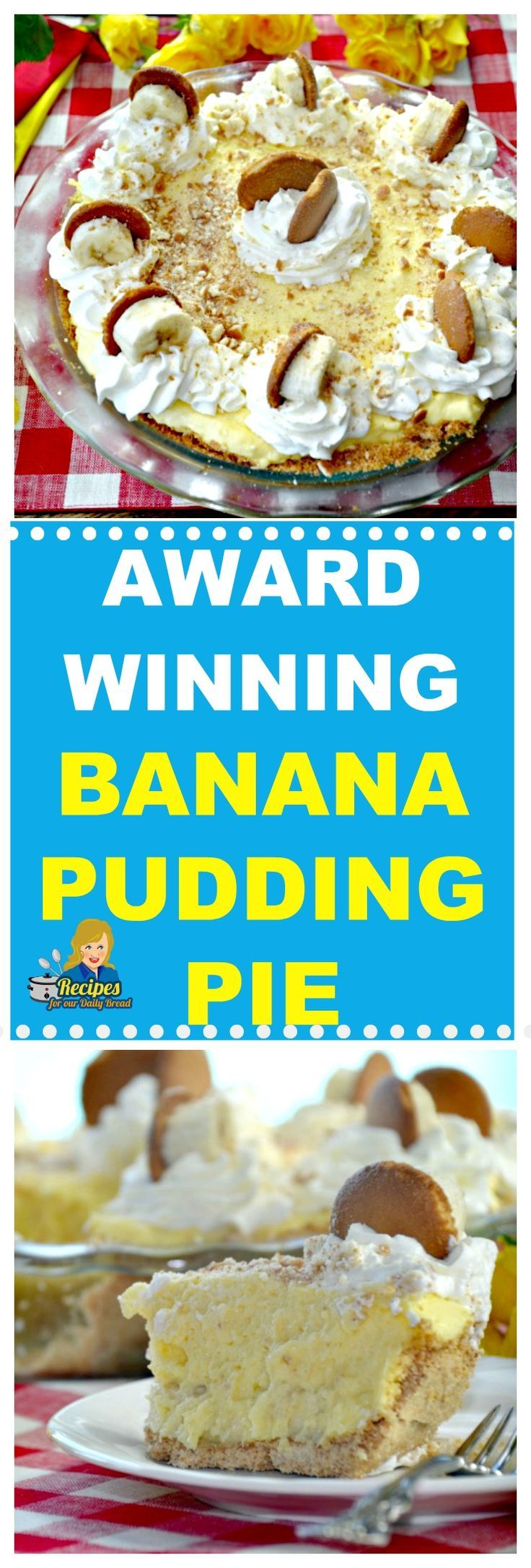 AWARD WINNING EASY NO BAKE BANANA PUDDING PIE FROM RECIPES FOR OUR DAILY BREAD BLOG This No Bake Banana Pudding Pie won first place at Root Cafe in Little Rock. You have to try this easy no-bake banana pudding pie.  #bananapudding #banana #dessert #dessert #pie #pies #recipe #recipesforourdailybread