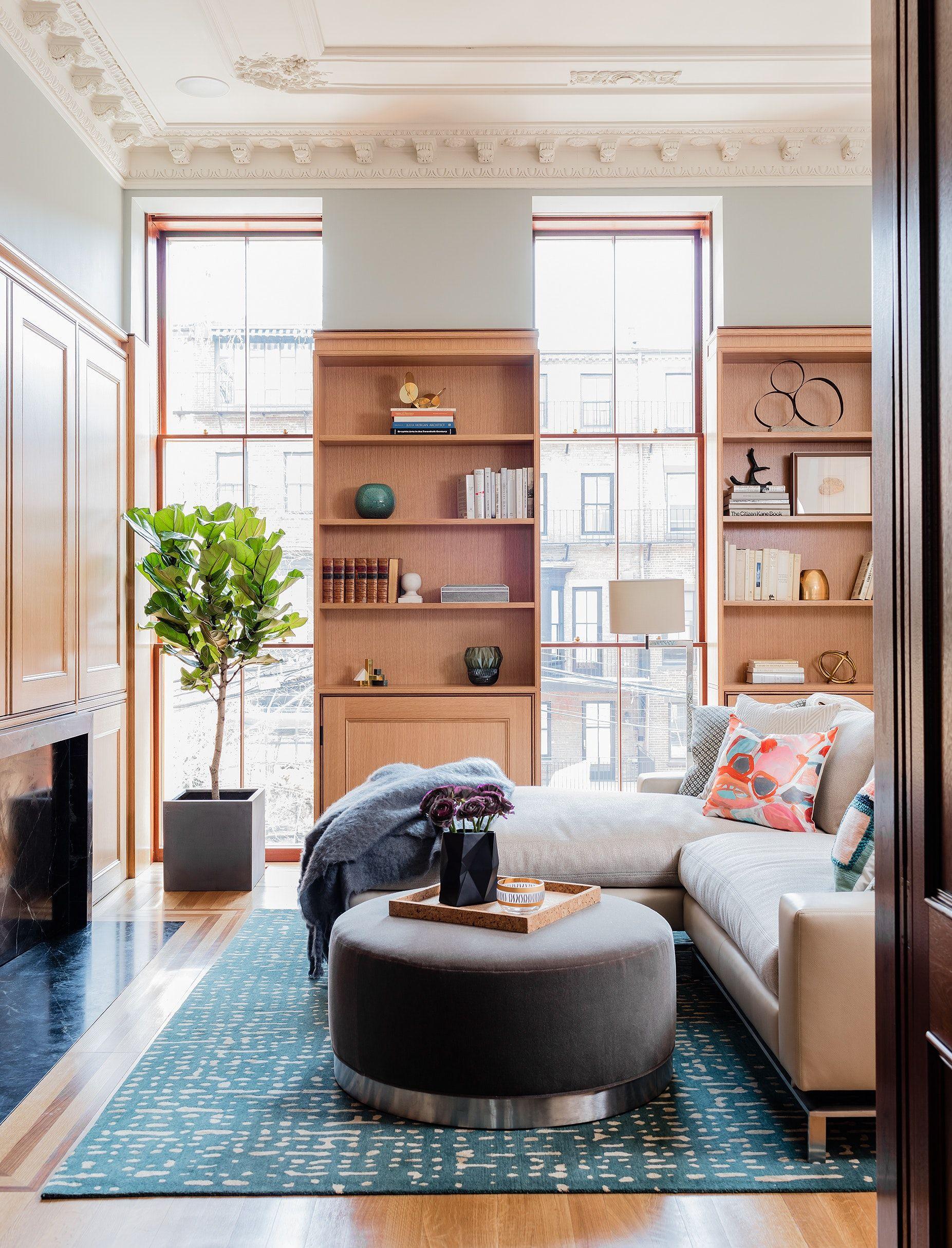 West Brookline Brownstone Library Interior Design Portfolios