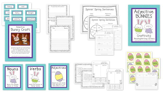 HOPPIN' THROUGH ADJECTIVES + EASTER FREEBIE | Easter ...