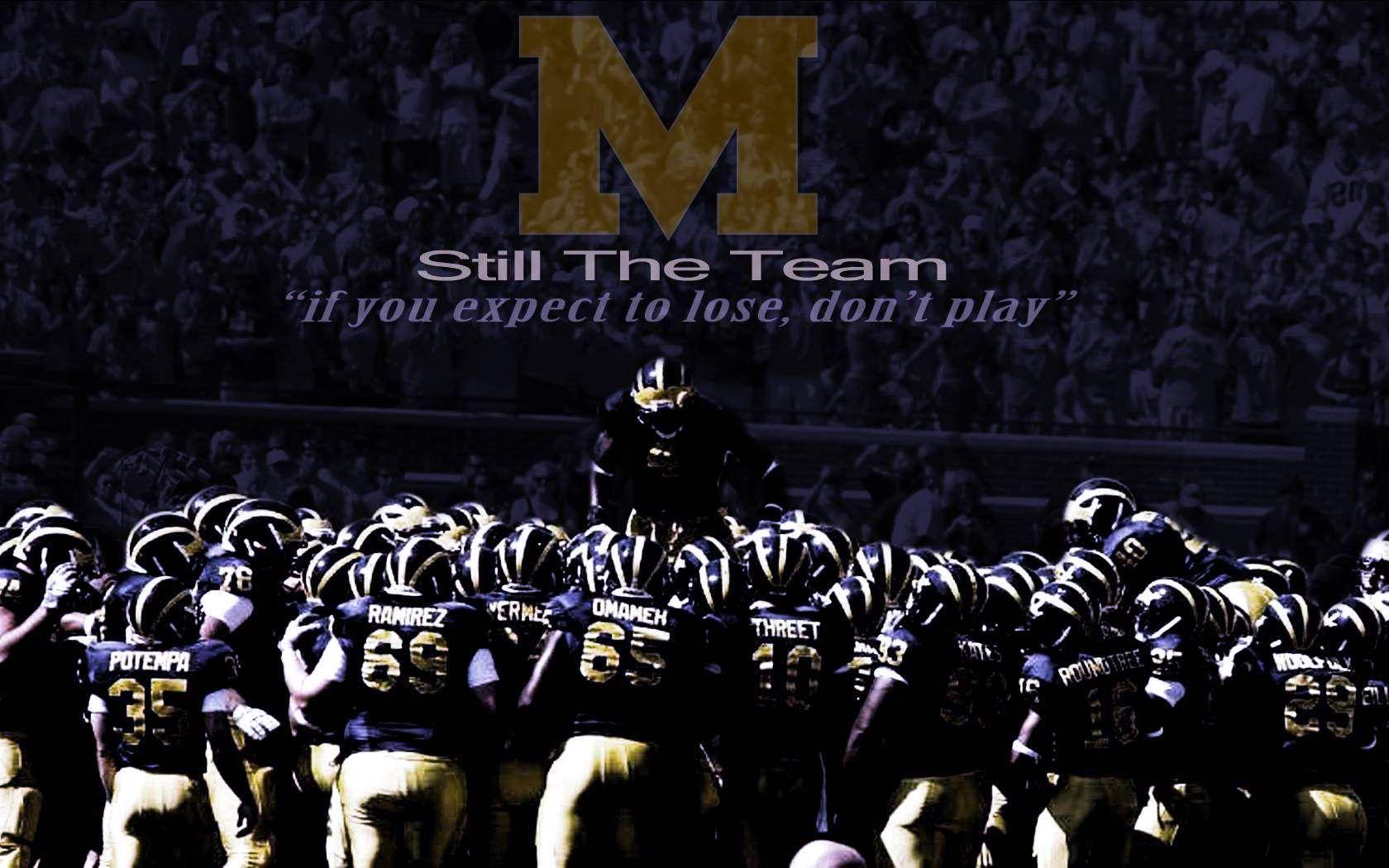 Image Result For Michigan Football Desktop Wallpaper Michigan Football Michigan Go Blue Michigan Wolverines Football