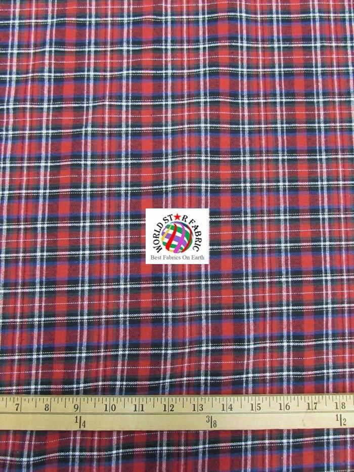 Red/Black Plaid #Tartan #Quilt Flannel #Fabric 60