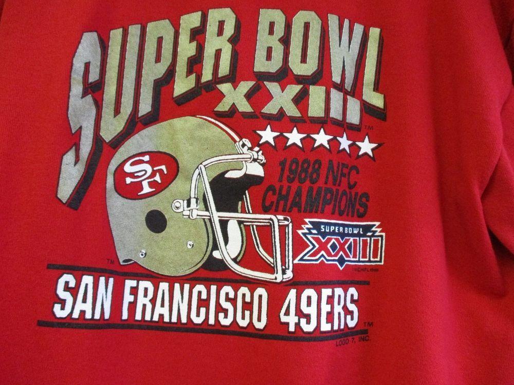 f0b6b328e Vintage 1988 San Francisco 49ers Championship Superbowl Sweatshirt XL Retro