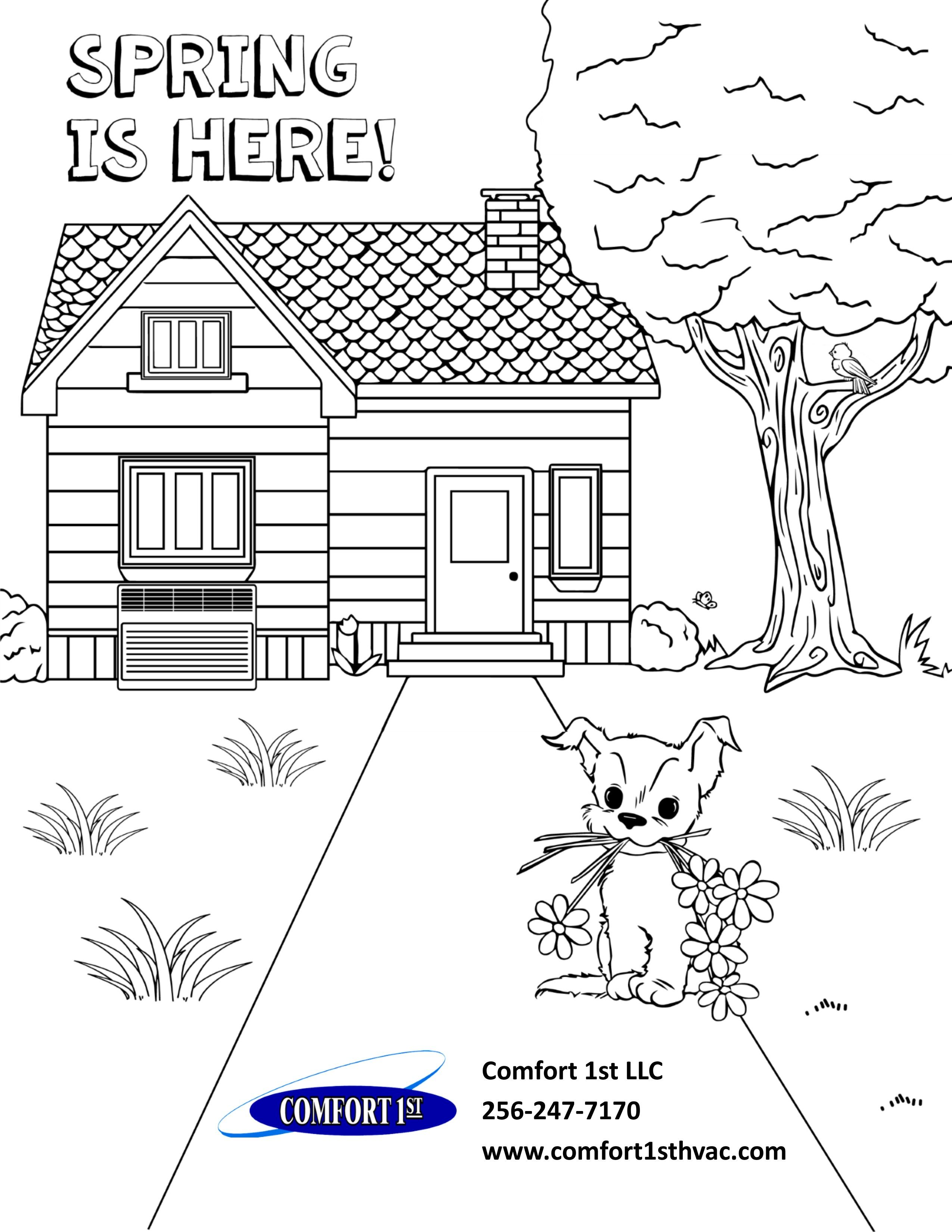 Spring is just around the corner! Print off this coloring