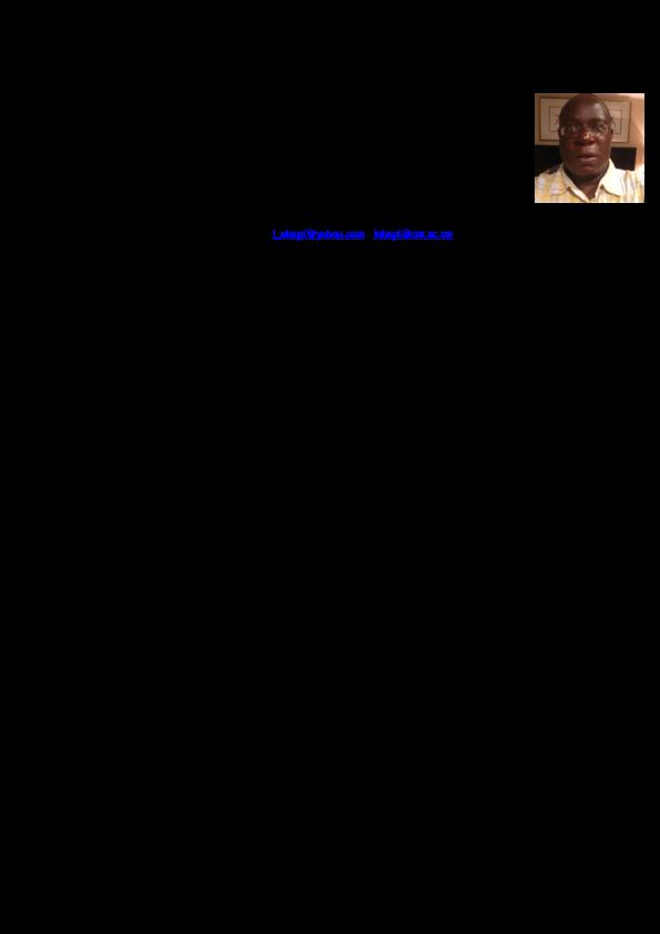 Curriculum Vitae Prof Innocent Nhapi 1 12 Curriculum Vitae Curriculum Water Resource Management