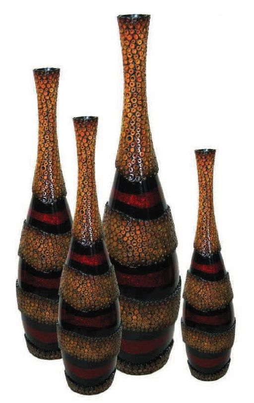 Floor Vases Red Jamaica Floor Vases Available In 4 Different Sizes