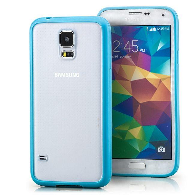 Hard Back Cover für Samsung Galaxy S5 Transparent-Blau