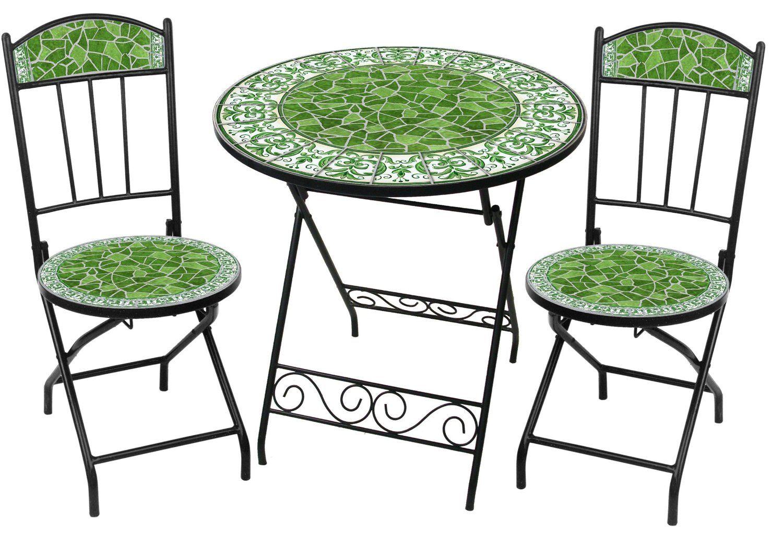 Verdi Royale Green Ceramic Tile Bistro 3pc Set By Rst