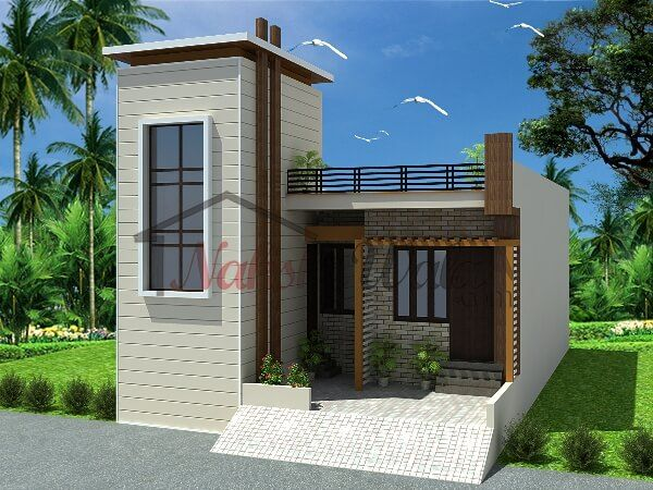 3d front elevation design indian front elevation kerala for Single house front design