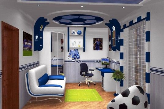 Modern Study Room Design Ideas Real House Design Soccer Themed Bedroom Colorful Kids Room Soccer Bedroom