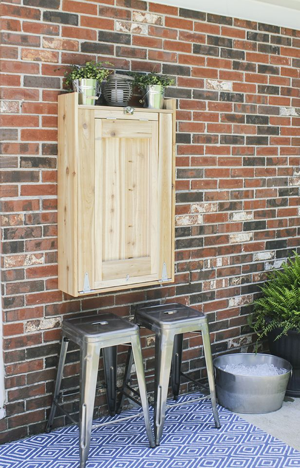 How To Build An Outdoor Murphy Bar Small Outdoor Spaces Outdoor