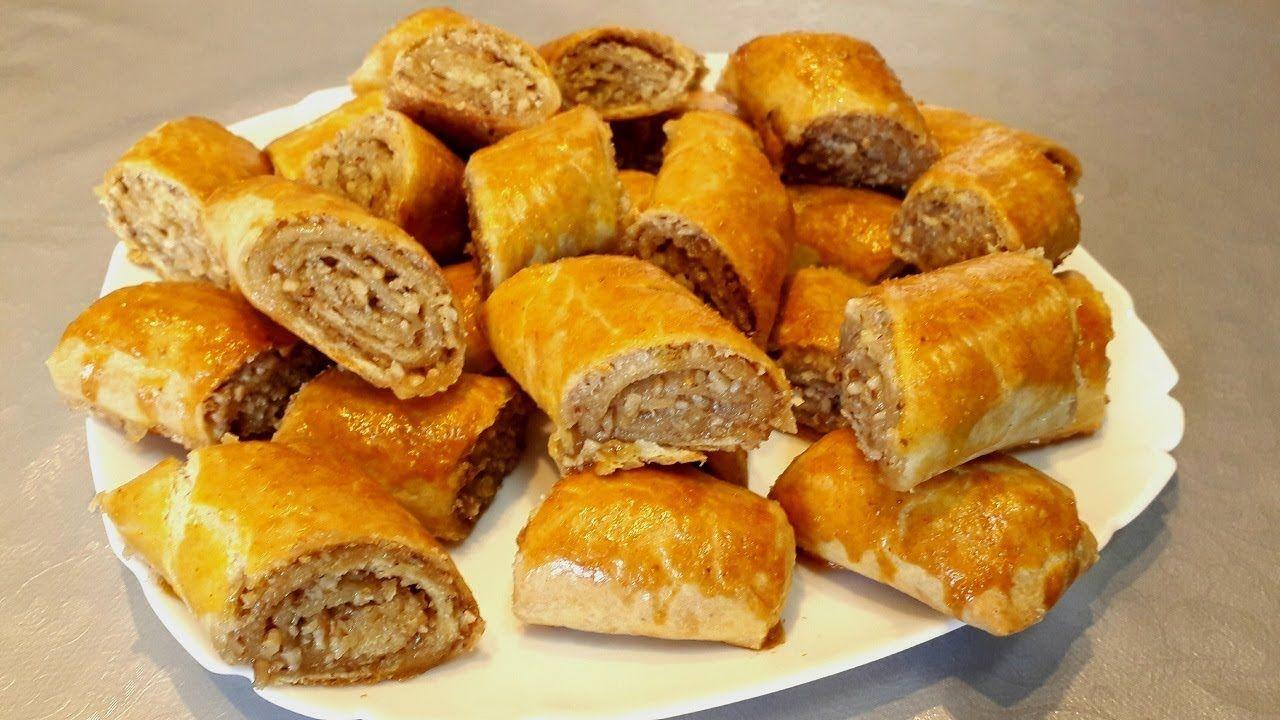 Paxlava Dadinda Doymə Xəmirdən Qozlu Rulet Resepti Asan Sirniyyat Resep Breakfast Food French Toast
