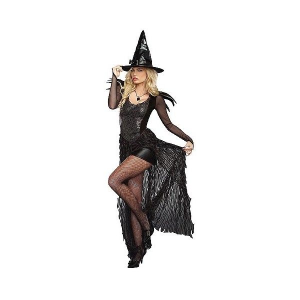 womens wicked me costume black size 60 liked on polyvore witch costume adultwitch - Salem Witch Halloween Costume