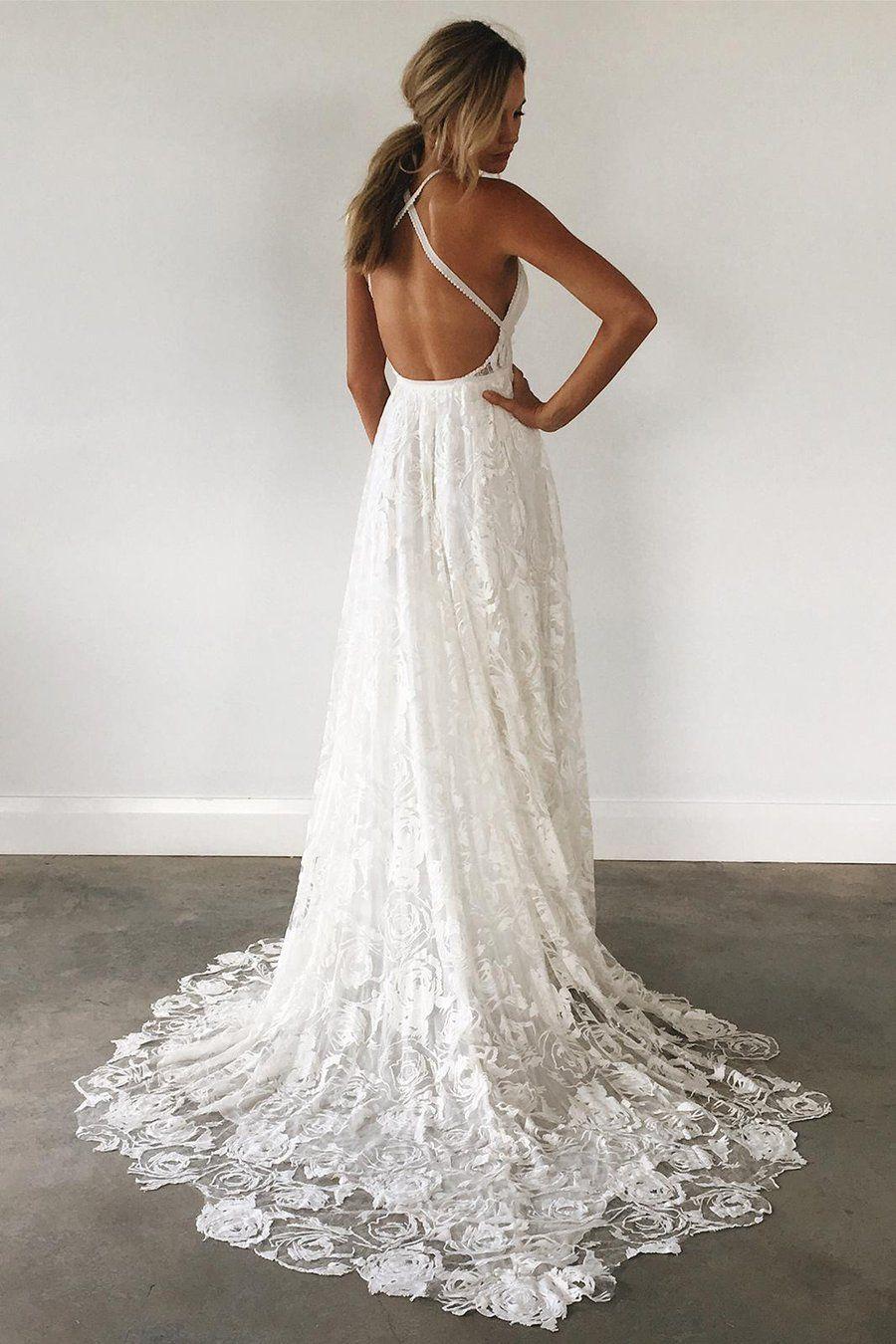 Thigh split sky blue rustic wedding dresses beach wedding gown with