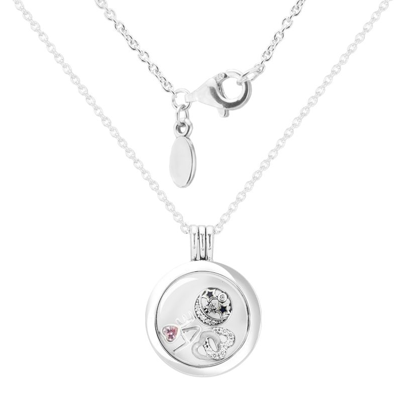 Large floating locket Necklaces and Pendants with 3 inner Parts ...